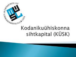`Прыжок в развитии-2016`: KÜSK открыл конкурс проектов НКО на период до мая 2017 года