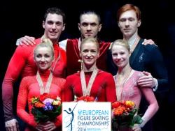 Фигурное катание. ЧЕ-2016. В парном катании у россиян две медали - `золото` и `бронза`.