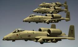 На учения в Эстонию прибыли восемь американских штурмовиков А-10 Thunderbolt II