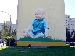 Ласнамяэ украшается: Рисунок «Пастух голубей» стал фоном для детской площадки Тондилоо