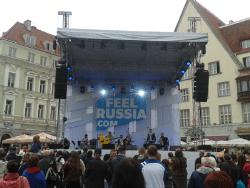 Ратушная площадь Таллина стала местом проведения Фестиваля русской культуры FeelRussia