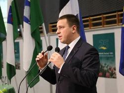 Юри Ратас возглавил Центристскую партию Эстонии, получив 654 голоса против 348 у Яны Тоом