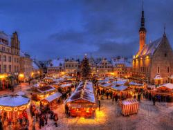 Рождественская ярмарка на Ратушной площади Таллина будет работать с 18 ноября по 8 января