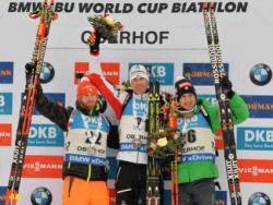 Биатлон. Спринт в Оберхоффе выиграл австриец Эберхард. Россияне не попали в десятку лучших
