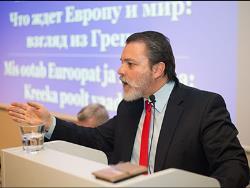Греческий философ и футоролог представил таллинцам свой взгляд на будущее мира и Европы