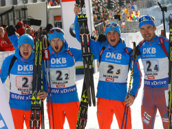Биатлон. ЧМ-2017. Российская мужская четвёрка выиграла эстафету после 8-летнего перерыва