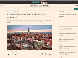 Financial Times: Власти Эстонии могут сделать своими э-резидентами бизнесменов Британии