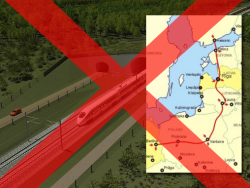 В столице Эстонии прошла акция протеста противников Rail Baltica в её нынешнем виде