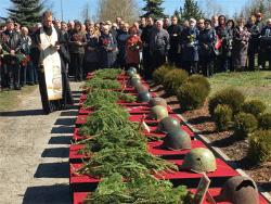 На Мемориальном участке кладбища Маарду прошла церемония перезахоронения 128 красноармецев