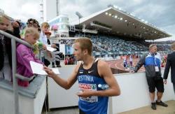 Легкая атлетика. Расмус Мяги стал вторым на этапе `Бриллиантовой лиги` в Стокгольме