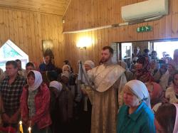 Православное Причудье: Освящена церковь равноапостольных Константина и Елены в Яама
