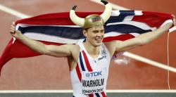 Легкая атлетика. ЧМ-2017. 21-летний норвежец Карстен Вархольм сенсационно выиграл золото