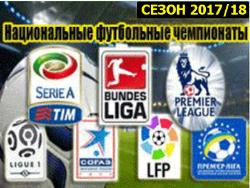 Футбол. Национальные чемпионаты. Сезон 2017/18 годов.