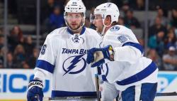 НХЛ-2017/18. `Молния` Никита Кучеров отличился в седьмом матче подряд, забросив 8-ю шайбу