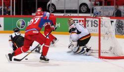 Хоккей. ЧМ-2012. Россияне не без труда одолели Германию в юбилейном матче