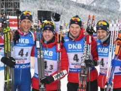 Биатлон. КМ-17/18. Норвежцы и немки выиграли первые классические эстафеты сезона