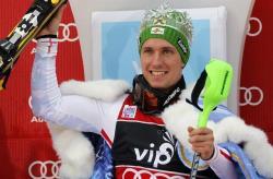 Горные лыжи. КМ-2017/18. Хиршер выиграл этап в Альта Бадии, догнав в `генерале` Свиндаля