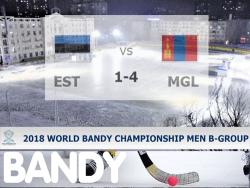 Бенди. ЧМ-2018. Проиграв Монголии со счётом 1:4, Эстония в четвертьфинале вышла на Сомали