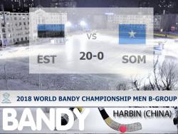 Бенди. ЧМ-2018. Эстония в 1/4 финала разгромила Сомали - 20:0, впереди матч с Голладией