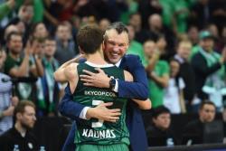 Баскетбол. Евролига. Каунасский `Жальгирис` впервые пробился в `Финал четырех`