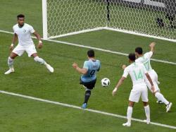 Футбол. ЧМ-2018. Сборная Уругвая с минимальным счетом одолела `Орлов пустыни`