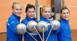 Фехтование. Женская сборная Эстонии завоевала бронзу командного турнира шпажисток