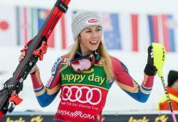 Горные лыжи. КМ-2018/19. Американка Микаэла Шиффрин выиграла домашний слалом в Киллингтоне