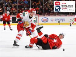 Хоккей. МЧМ-19. Сборная России одержала волевую победу над Швейцарией со счётом 7:4