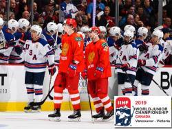 Хоккей. МЧМ-19. Сборная США выиграла полуфинал у России, а Финляндия разгромила Швейцарию