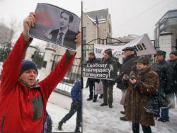 В столицах Эстонии, Латвии и Литвы прошли акции в поддержку Альгирдаса Палецкиса