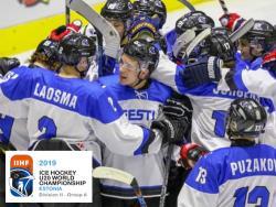 Хоккей. МЧМ-2019. Вперёд в IB - Сборная Эстонии досрочно выиграла турнир в группе IIА