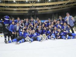 Хоккей. МЧМ-19. Выиграв свой дивизион, Эстония в последнем матче разгромила Румынию - 9:1