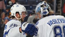 НХЛ-2018/19. Никита Кучеров в 6-й раз набрал 4 очка, Андрей Василевский сделал 5-й шатаут