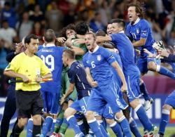 Футбол. Евро-2012.  Итальянцы по пенальти победили сборную Англии