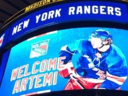 НХЛ. Артемий Панарин согласовал условия контракта с `Рейнджерами Нью-Йорка`