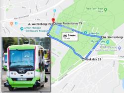 Беспилотный автобус прокатит отдыхающих по таллинскому парку Кадриорг