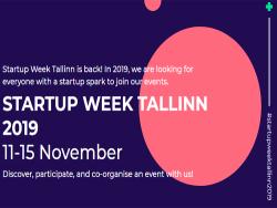 Startup Week-2019: Бесплатные для посетителей мероприятия пройдут шести городах Эстонии