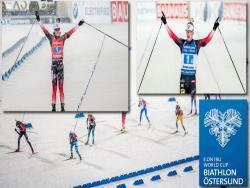 Биатлон. КМ-2019/20. И мужскую, и женскую эстафету в Эстерсунде выиграли норвежцы