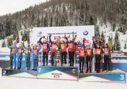 Биатлон. КМ 2019/20. Женская сборная Норвегии вырвала у россиянок победу в эстафете