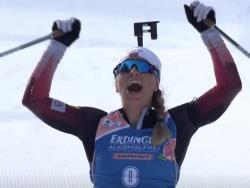 Биатлон. КМ 2019/20. Норвежка Тириль Экхофф выиграла в Хохфильцене гонку преследования