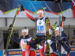 Биатлон. КМ 2019/20. Йоханнес Бё выиграл для Норвегии мужскую эстафету Хохфильцена