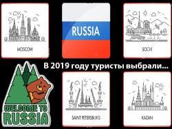 ТурСтат: В 2019 году туристы в России чаще всего посещали Москву, Санкт-Петербург и Сочи