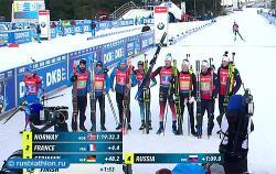 Биатлон. КМ 2019/20. Норвежцы выиграли третью эстафету сезона, россияне - четвёртые