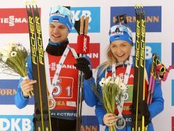 Биатлон. КМ-2019/20. Рене Цахкна и Регина Оя выиграли для Эстонии `серебро` в супермиксте
