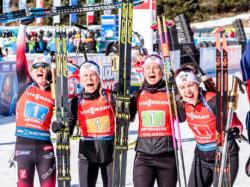 Биатлон. ЧМ-2020. Сборная Норвегии выиграла женскую эстафету. Россиянки - лишь восьмые