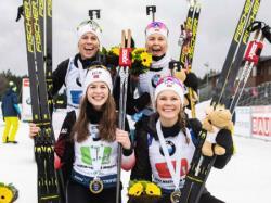Биатлон. КМ-2019/20. Норвежские спортсменки выиграли все шесть эстафет сезона