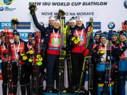 Биатлон. КМ-2019/20. Норвежцы выиграли последнюю мужскую эстафету, россияне - четвёртые