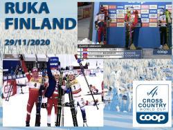 Лыжи. КМ-2020/21. Первый этап сезона в финской Руке выиграли норвежцы Йохауг и Клебо