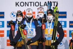 Биатлон. КМ-2020/21. Норвежская мужская четвёрка выиграла мужскую эстафету, россияне - 4-е