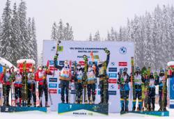Биатлон. ЧМ-2021. Открывавшую соревнования смешанную эстафету выиграли норвежцы